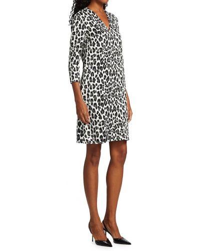 Платье с V-образным вырезом - белое Escada