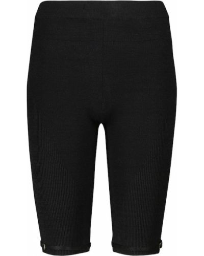 Черные льняные шорты Jacquemus