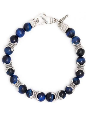 Niebieska bransoletka srebrna Emanuele Bicocchi