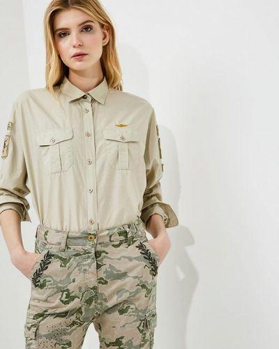 Бежевая рубашка Aeronautica Militare