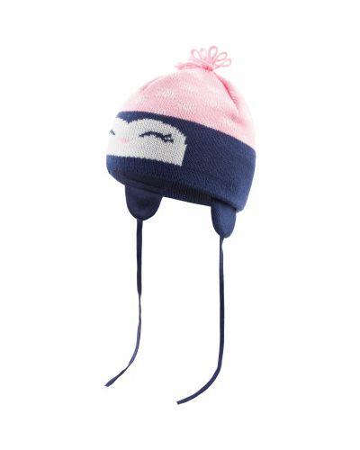 Вязаная шапка с ушками хлопковая Satila