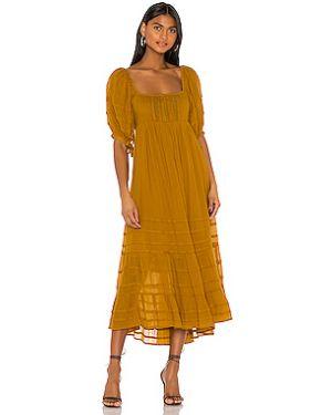 Платье миди с буфами с оборками Free People