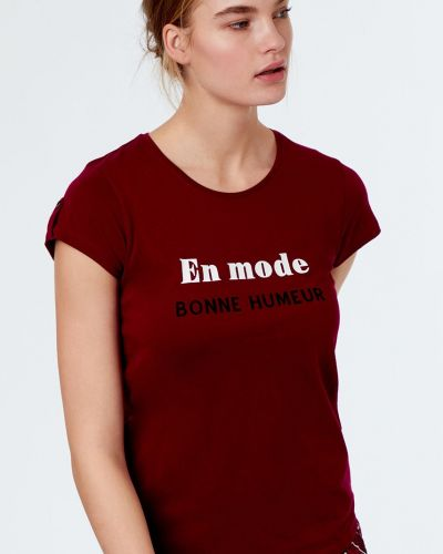 Рубашка с вырезом однотонная Etam