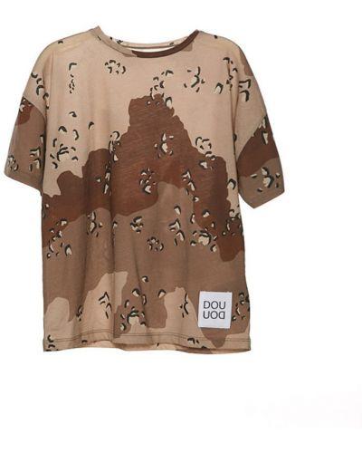 Brązowy t-shirt Douuod