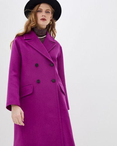 Фиолетовое пальто двубортное Paul & Joe