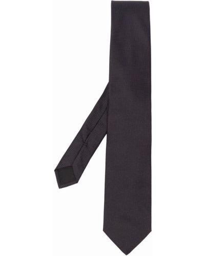 Черный галстук в клетку жаккардовый Boss Hugo Boss