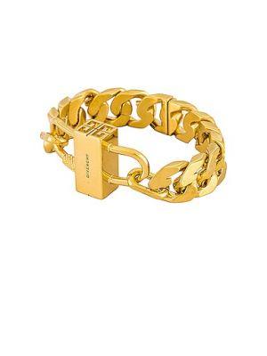 Żółta złota bransoletka łańcuch Givenchy