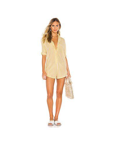 Купальник ромпер желтый Acacia Swimwear
