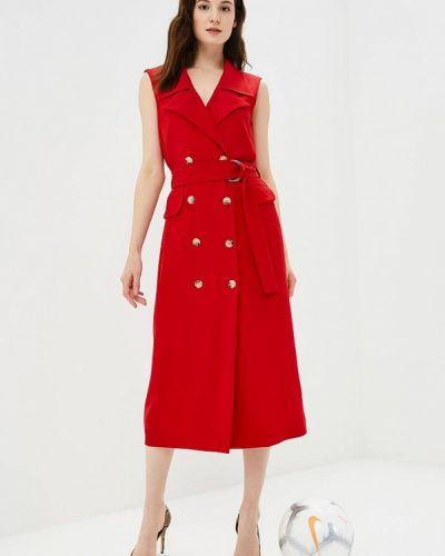 Красное платье с запахом Imperial
