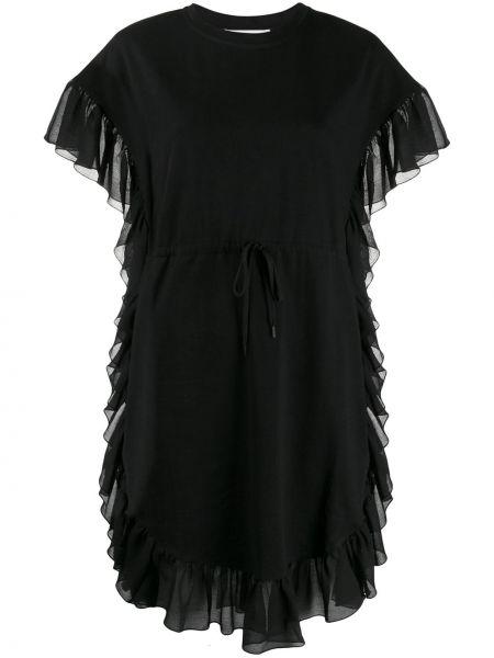Платье черное с оборками See By Chloe