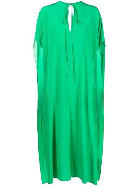 Zielony jedwab z rękawami kaftan Victoria Beckham