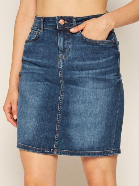 Spódnica jeansowa - granatowa Guess