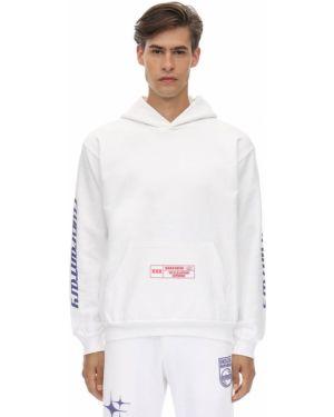 Biała prążkowana bluza z kapturem Club Fantasy