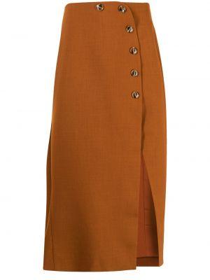 Коричневая юбка из полиэстера Alice Mccall