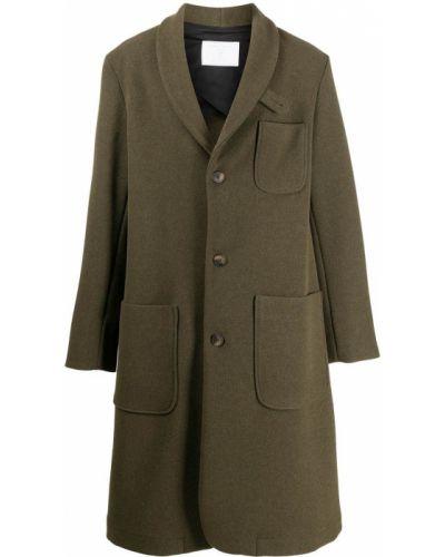 Długi płaszcz wełniany - zielony Société Anonyme