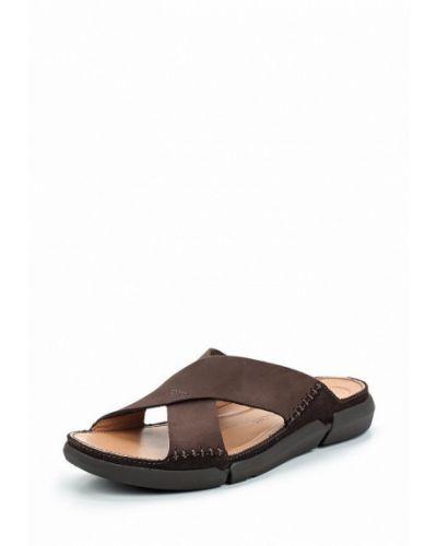 Коричневые сандалии Clarks