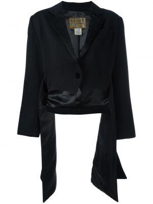 Черный пиджак винтажный на пуговицах Kenzo Pre-owned