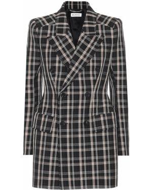 Черный классический пиджак с подстежкой Balenciaga