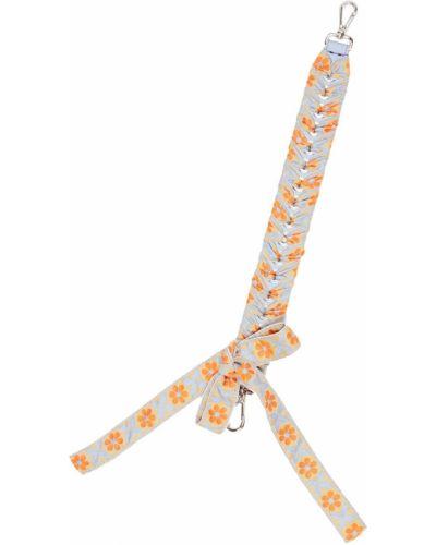 Плетеный ремень с бантом с цветочным принтом Fendi