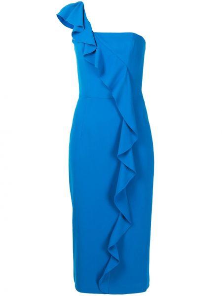 Синее платье миди с оборками на торжество Ginger & Smart