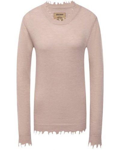 Бежевая трикотажная пуловер Uma Wang