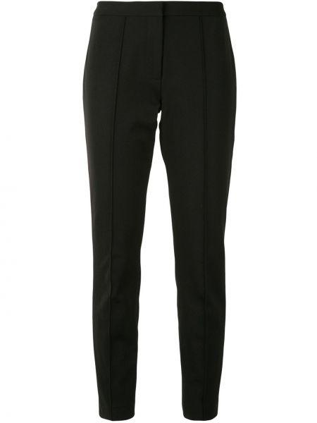 Брючные черные брюки-сигареты с карманами с высокой посадкой Adam Lippes
