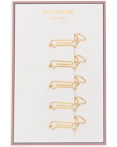 Złote klipsy Thom Browne