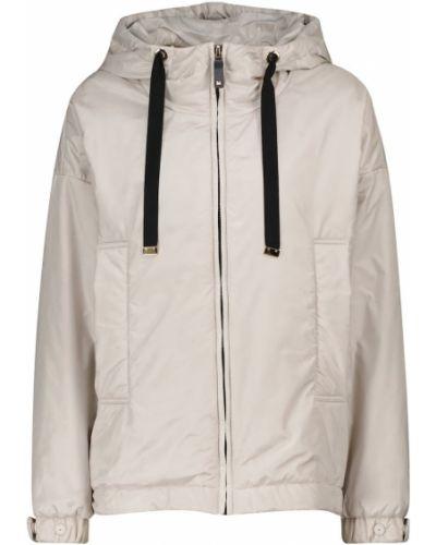 Текстильная повседневная серая облегченная куртка Max Mara