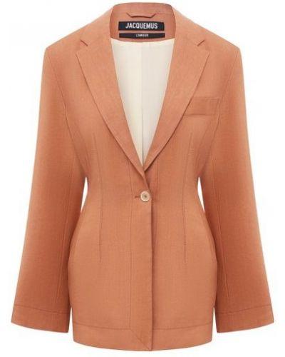 Оранжевый шерстяной пиджак с подкладкой Jacquemus