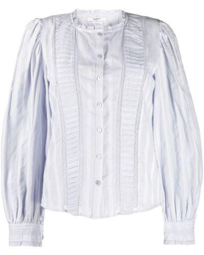 Блузка с воротником-стойкой с рюшами Isabel Marant étoile