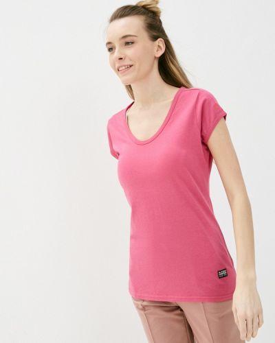 Розовая футболка с короткими рукавами G-star