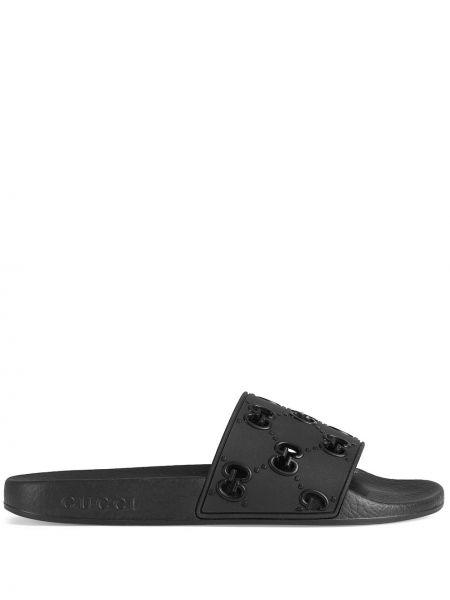 Klapki - czarne Gucci