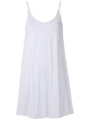 Белое тонкое платье на бретелях с вырезом Lygia & Nanny