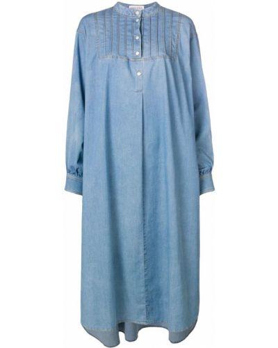 Платье свободного кроя - синее Sonia Rykiel