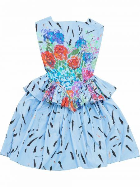 Sukienka bawełniana - niebieska Christopher Kane