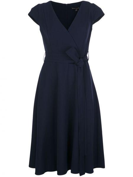 Приталенное платье мини с запахом на молнии Black Halo