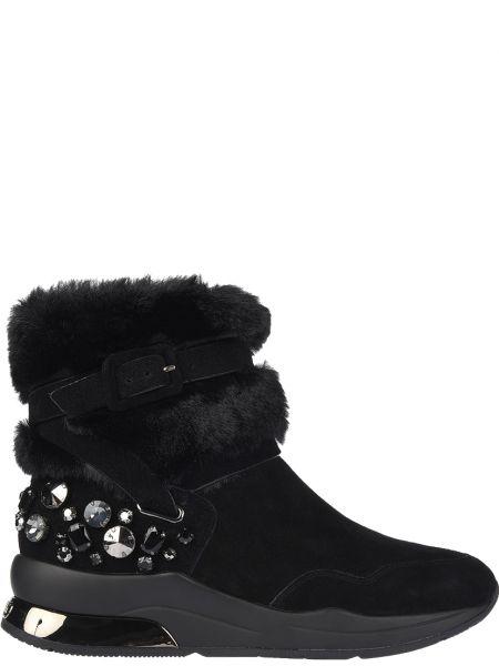 Кожаные ботинки осенние замшевые Liu Jo