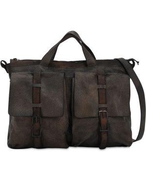 Czarna torba na ramię skórzana klamry Numero 10