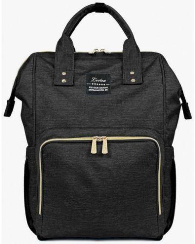 Городской черный текстильный рюкзак Leotex
