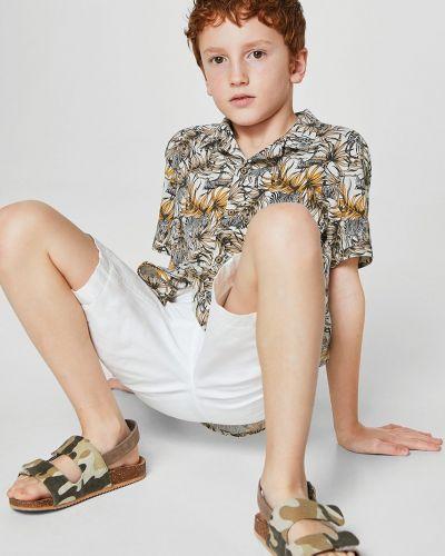 Рубашка с узором желтый Mango Kids