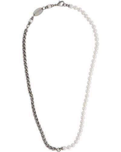 Белое ожерелье с жемчугом Dsquared2