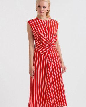 Платье прямое красный Lova