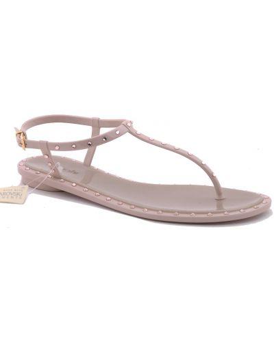 Силиконовые сандалии - бежевые Menghi