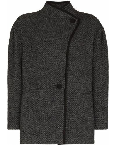 Серое шерстяное пальто Isabel Marant étoile
