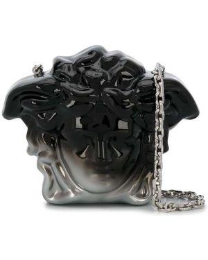 Torba sprzęgło czarny srebro Versace