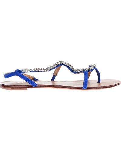 Синие сандалии Schutz