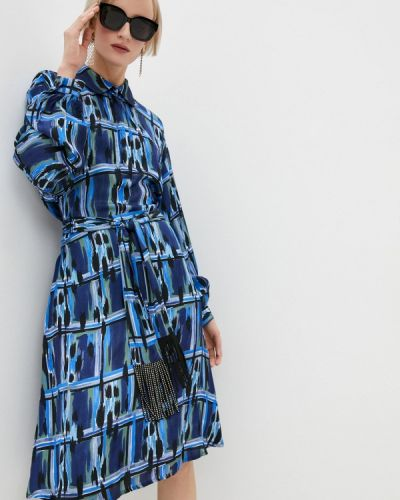 Синее платье-рубашка Just Cavalli