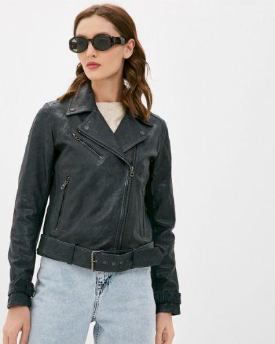 Кожаная куртка - черная Pepe Jeans