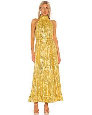 Платье макси из вискозы с люрексом Saylor