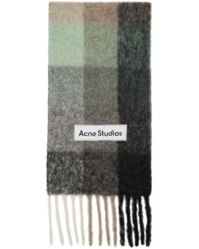 Czarny szalik wełniany oversize Acne Studios